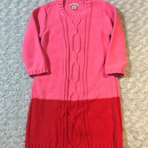 Old Navy pink red color block sweater dress